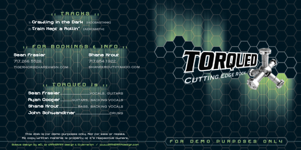 Torqued CD cover