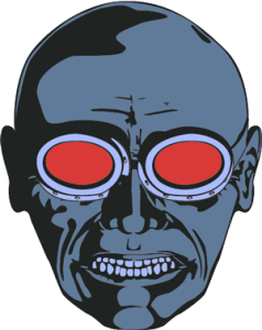 Angry Goggle Face illustration